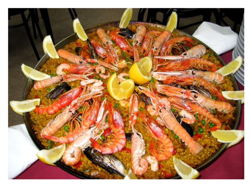 Paella, Spanien, spanisches Essen,  Mallorca, Urlaub