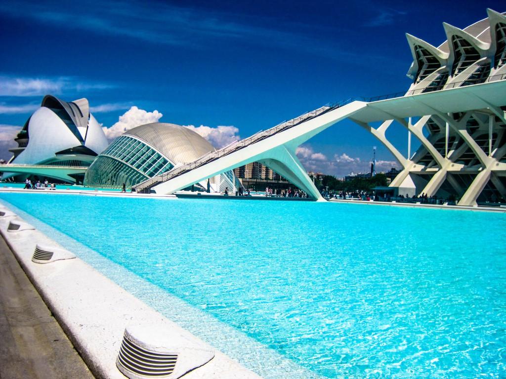 Calatrava's Architektur in Valencia