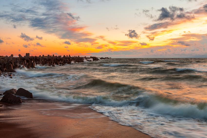 Lettland Landschaft der Ostsee